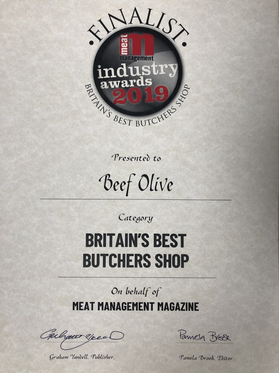 Britains Best Butchers Shop - Finalist
